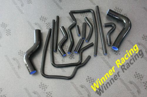 Fit Subaru Legacy BD5//BG5,BE5//BH5 GT//RS Twin Turbo Silicone Hose Kit 93-03 Black