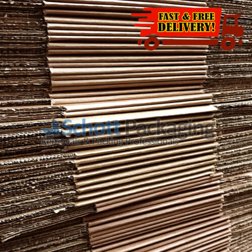"""20x SMALL MAILING PACKING CARDBOARD BOXES 9x9x9/"""" CUBE SINGLE WALL"""