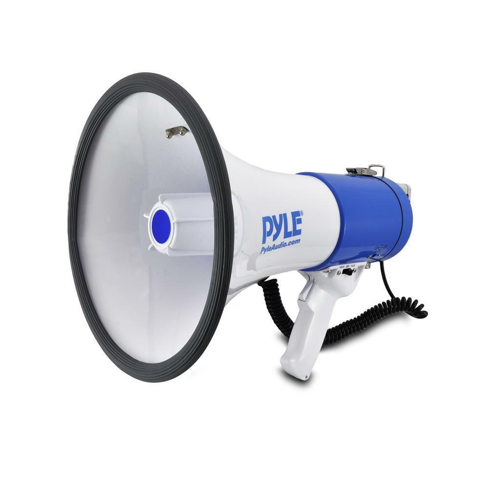 NEW Pyle -PMP50- 50 Watt Powerfull Megaphone Bullhorn W  Siren & Volume Control