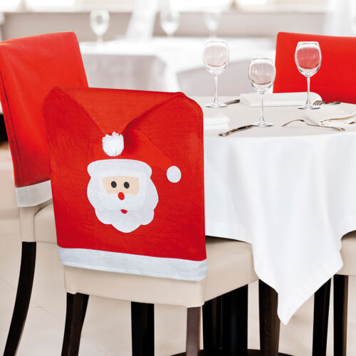 1 20 Pack Santa Claus Face Elf Elves Hat Dining Chair Cover Christmas Xmas Party