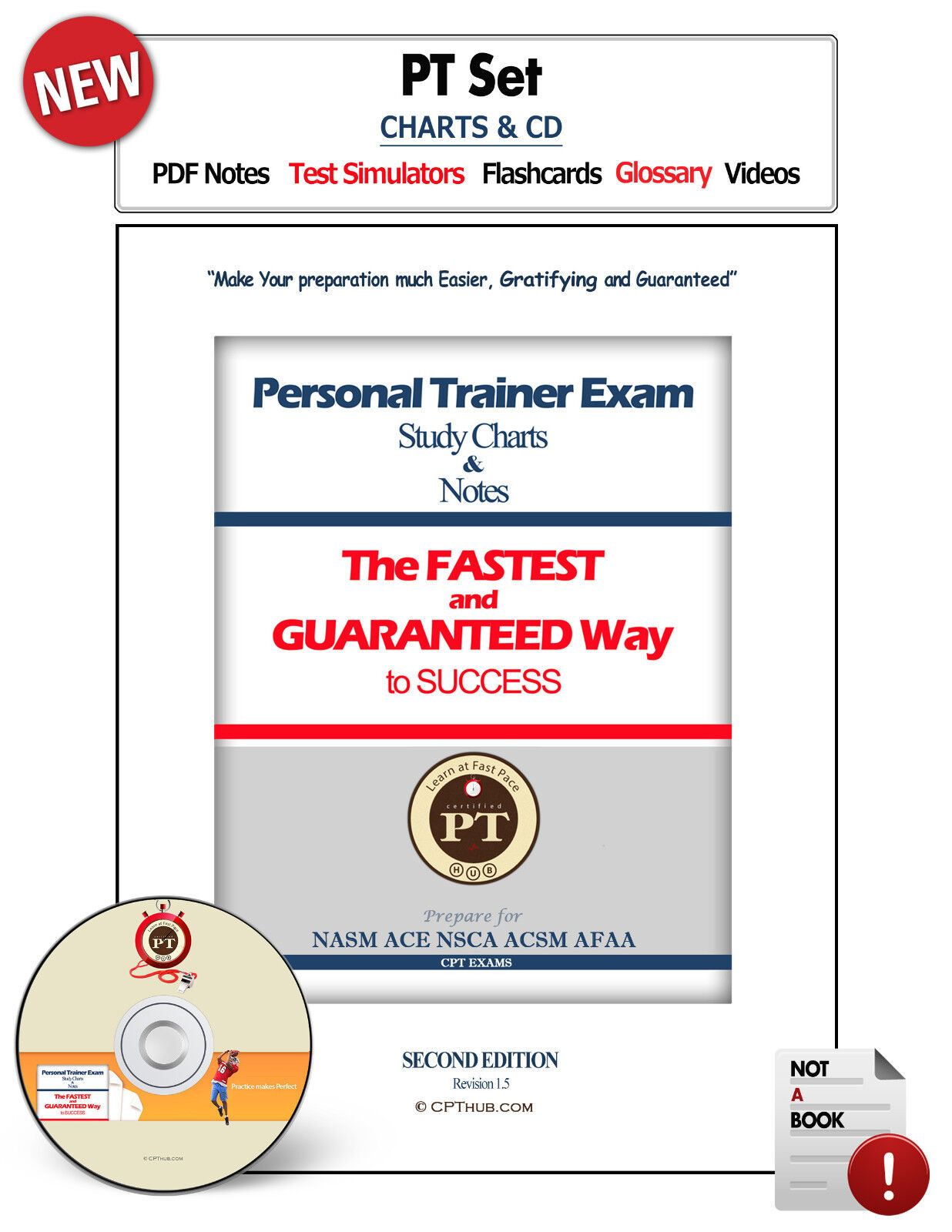 Personal Trainer Exam Certification Set For Nasm Cpt Ace Nsca Acsm