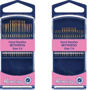 Hemline Premium Betweens Hand Sewing Needles In Various Sizes