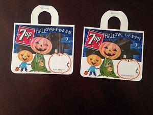 2 7 up Halloween soda pop bottle topper or hangers