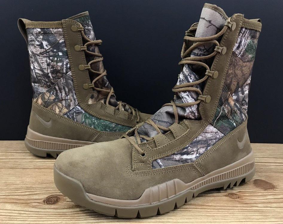 3ae028a73d372 NIKE SFB 8 JUNGLE REALTREE Size 11.5 Camo Tan 845167-990 Mens Boot NEW