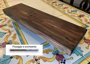 Mensole A Scomparsa Su Misura.Mensola Vintage Simply In Legno Massello Su Misura Ebay
