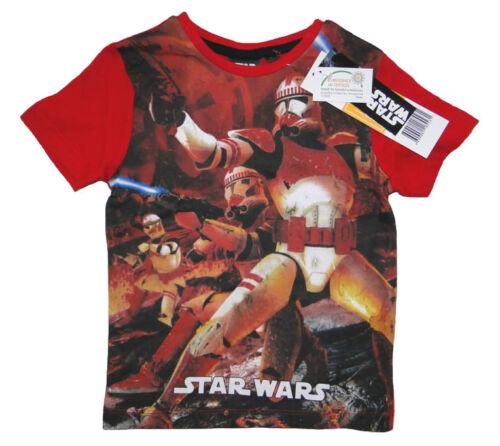 Star Wars Jungen T-Shirt Kinder kurzam Shirt Tshirt Darth Vader Yoda Clone