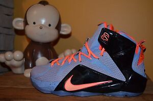 91db09ca6cde5 Details about NEW NIKE LEBRON 12 XII Easter SZ 9.5 Aluminum/Sunset Glow Hot  Lava 684595-488 kd