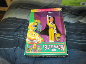 """Figurine Trini Jaune Ranger 8 """"Mighty Morphin Power Rangers 1994"""