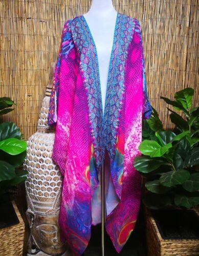 grande oversize longue taille fantaisie et aile de chauve Kimono avec souris et wqSY8A4
