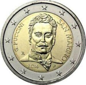 """San Marino  2014     2 euro commemo  """"Giacomo Puccini"""" UNC uit de Coincard !!!"""