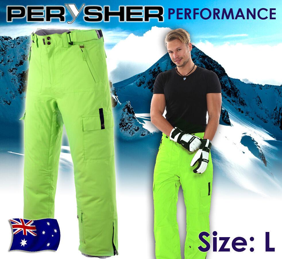 PERYSHER PERFORMANCE Mens Ski   Snowboard Pants  - [Neon Green] L