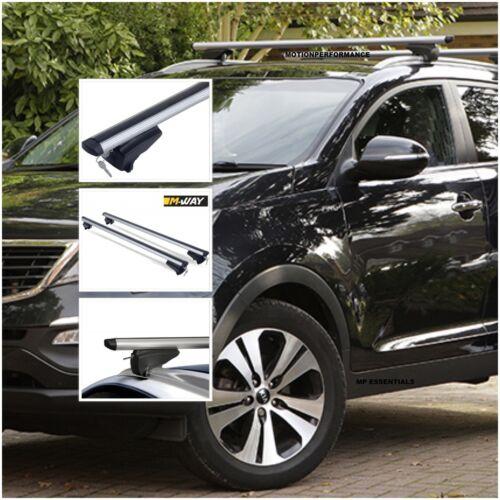 M-Way Lockable Aluminium Car Roof Rack Flush Flat Rail Bars for Kia Optima 2016+