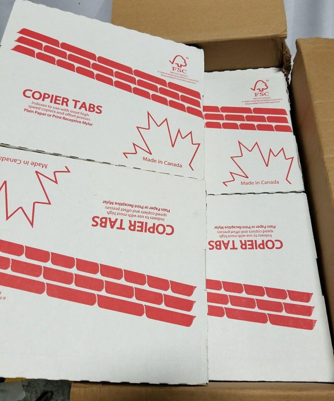 Box of 250 White Copier Tab Dividers 5th Cut - Straight, SKBAWA-000