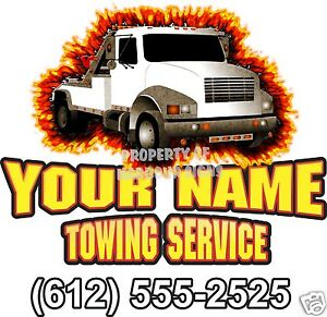Salvage Tow Truck Custom Vinyl Decal Towing Business Trade - Custom vinyl decals for trucks