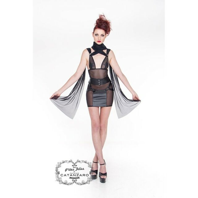 Robe courte sexy transparente -50% référence Nerys de Patrice Cantazaro