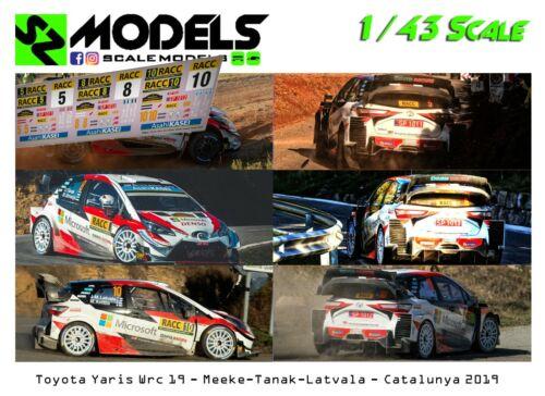 1//43 Rally Decal Additif Toyota Yaris Wrc Meeke Tanak Latvala Catalunya 2019