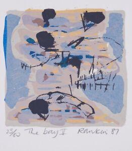 David-RANKIN-The-Bay-V-Original-signed-screenprint-Abstract-ocean-seaside-blue