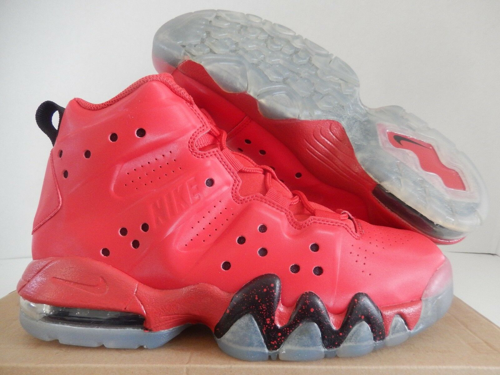 NIKE AIR MAX BARKLEY (GS) UNIVERSITY rouge SZ 5Y-Femme SZ 6.5 RARE [488245-660]