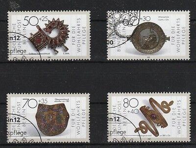 Briefmarken Kunst & Kultur V3007 Berlin/ Schmuck Minr 789/92 O Ersttagstempel Extrem Effizient In Der WäRmeerhaltung