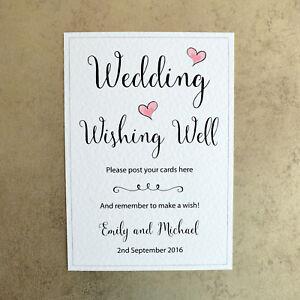 image is loading personalised wedding wishing well sign bride amp groom
