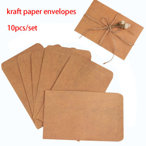 10PCS//lot Beautiful Diy Craft Gift Stationery Envelopes Vintage Kraft Paper