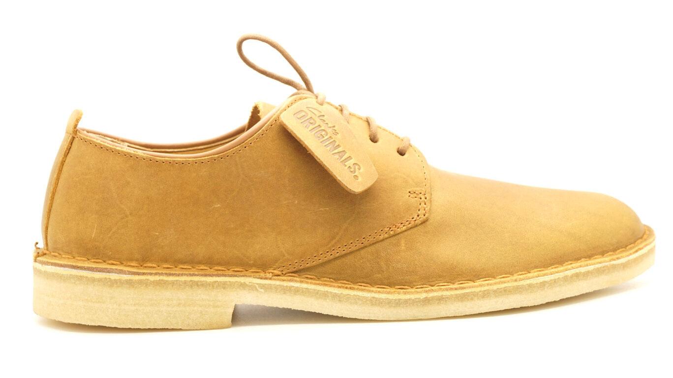 [06819] del Desierto Londres-Desierto Londres Para hombre Zapatos Clarks Originals línea Qs Mostaza
