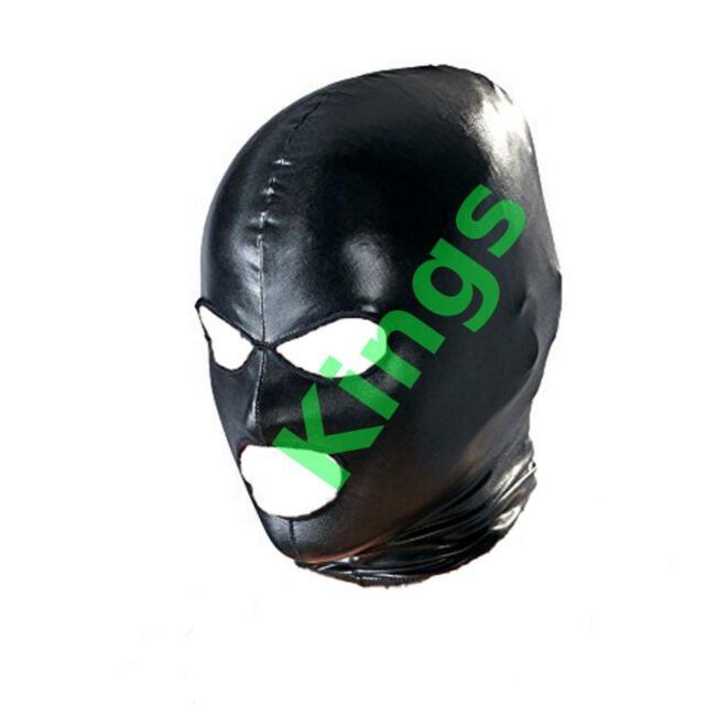 Spandex Hood Full Hood Open Mouth /& Eyes 3 Holes Stretchy Black