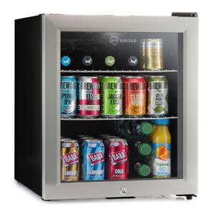 Subcold Super 50 LED Black/Stainless Steel Door   Mini Beer & Drinks Fridge