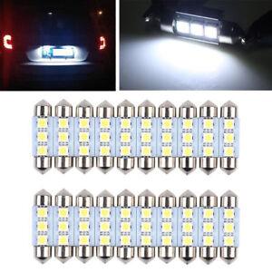 20x36MM-Canbus-3-SMD-5050-6418-C5W-White-Dome-Festoon-LED-Light-Bulbs-Error-Free