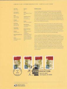 1811-50c-Forever-STEM-Education-5276-5279-Souvenir-Page