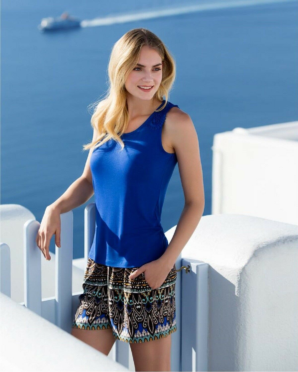 Women Summer Wear Vest and Shorts Set European Products