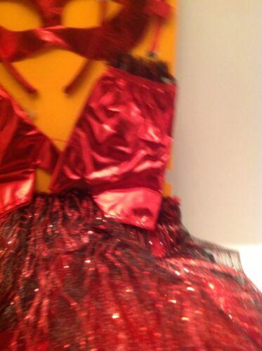 Girls Red Devil costume Set Tutu Headpiece Mask Gloves One Size  $12.00