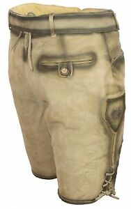 74ec31a008c6b Breve Lederhose cuero Trachten pantalones + Iarguirucho y cinturón bordado  plattlerhose