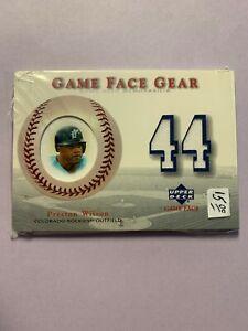 A5066 - 2003 Upper Deck Game Face Gear #PW Preston Wilson Jersey