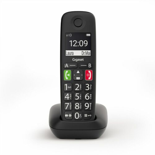 Gigaset teléfono inalámbrico e290 negro set