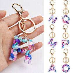 1pc Keychain Bag Charm Purse Chain A-Z Letters Alloy Key Lock Gold Pendant Gifts