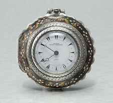 Große Silber Spindeluhr für den osmanischen Markt 3 Gehäusen Scheinpendel 1850