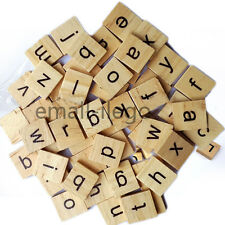 100x Mixed Wooden Scrabble Tiles Black Letters English Alphabet Board Game Toys