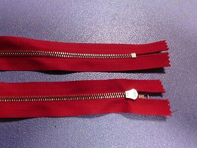 24  arancione RIRI M4 Cerniera lampo Zip Zipper catena in metallo cm