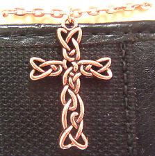 "Copper Pendant Cross 18"" Chain Necklace Wheeler Healing Arithitis Pain 162"