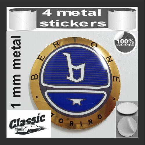 METAL STICKERS WHEELS CENTER CAPS Centro LLantas 4pcs Classic BERTONE 3