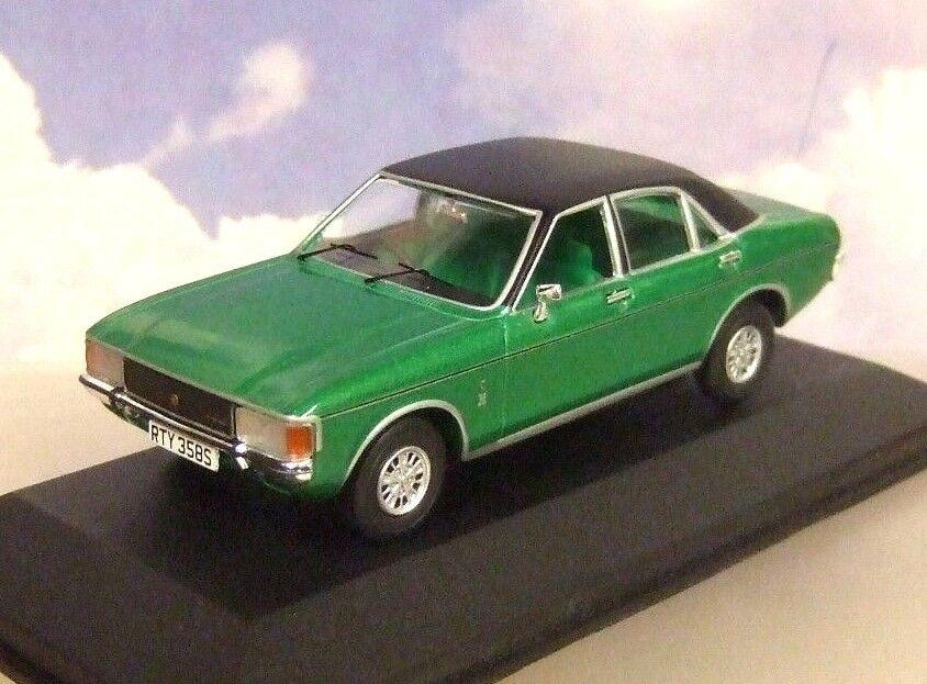 Corgi Vanguards Moulage sous Pression 1 43 1977 Mk1 Ford Granada 3.0 Ghia green