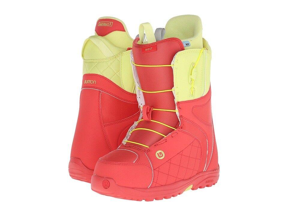 NEW Burton Mint Women's Snowboard Boot Coral Yellow size 7