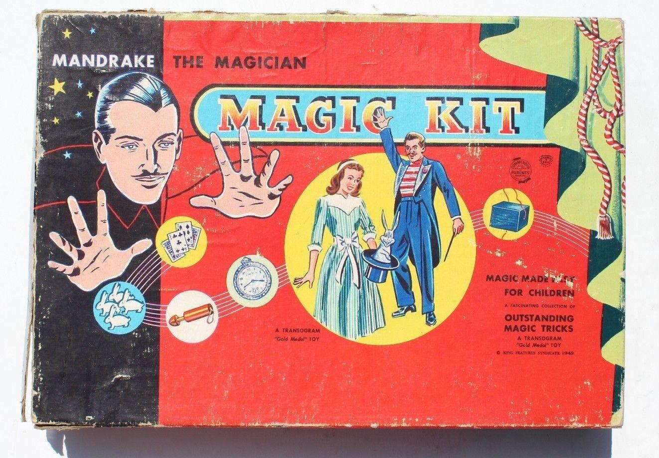 Vintage 1949 Transogram Mandrake the Magician Kit Magic Game Boxed