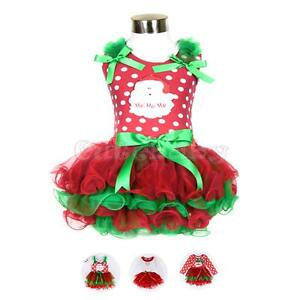 Toddler-Baby-Girls-Christmas-Dress-Santa-Claus-Outfits-Tutu-Fancy-Skirt-Costumes