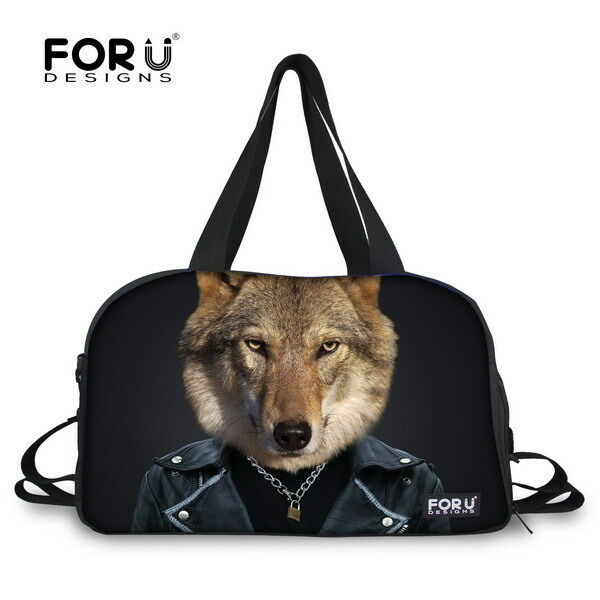 Fitness Running Yoga Gym Bags Sporting Animals Print DuffleBag shoes Compartment