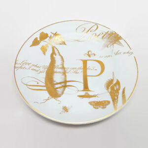 Pottery-Barn-Poetry-Gold-Trimmed-8-5-034-Salad-Plate