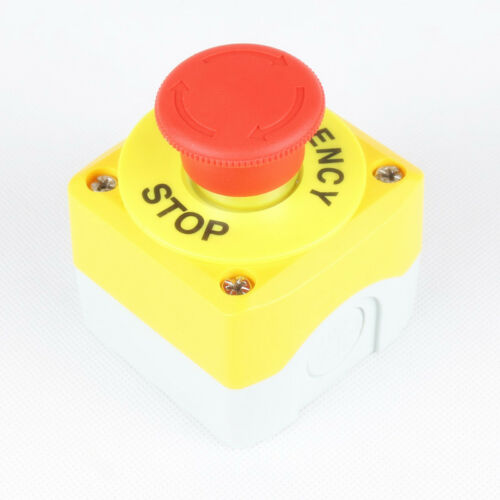 Elevator Freight Elevator Safety STOP Button Switch Box Emergency Stop Red 22mm