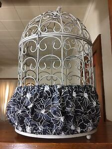 6e270a4a3 Handmade Black & White Fabric Bird Cage Skirt Seed Catcher Guard or ...