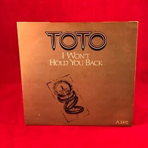 TOTO-I-Won-039-t-Hold-You-Back-1983-UK-7-034-Vinyl-Single-EXCELLENT-CONDITION